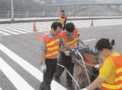 涪陵市区震荡标线